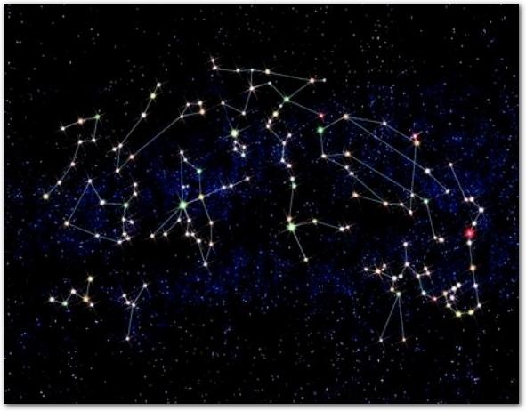 星座が輝くプラネタリウム