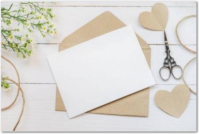 手作りのメッセージカード